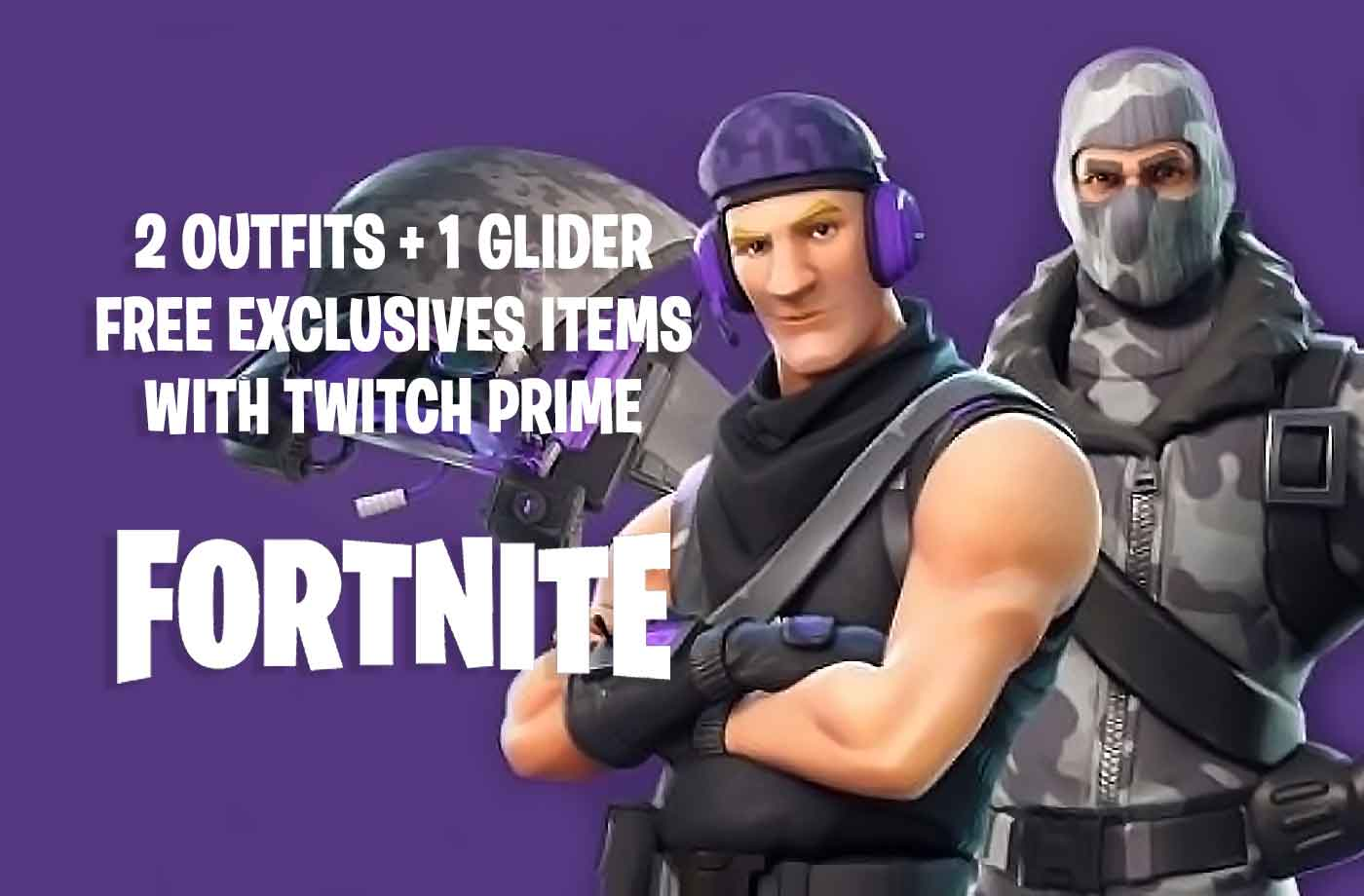 fortnite twitch prime guide how to get the new free skins outfits and glider of season 3 - fortnite free rewards