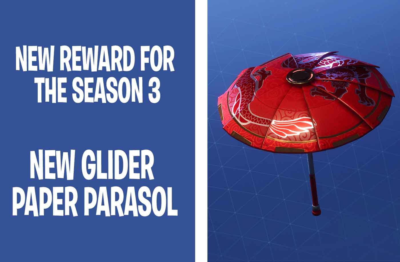 Fortnite Battle Royale Win The New Glider Paper Parasol