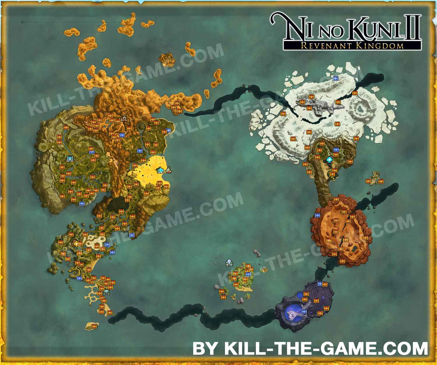 Guide ni no kuni 2 the list of all treasure chests to open on the all location treasure chests world map ni no gumiabroncs