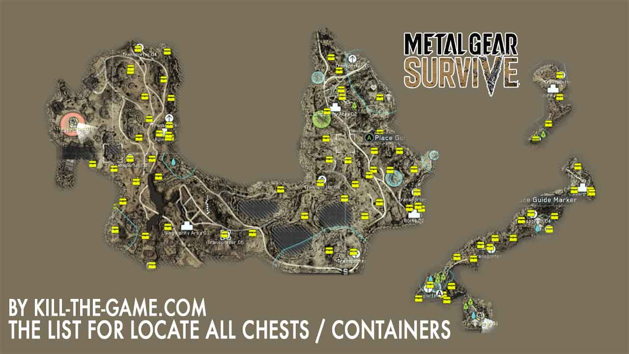 Metal Gear Survive the map with all the locations of chests