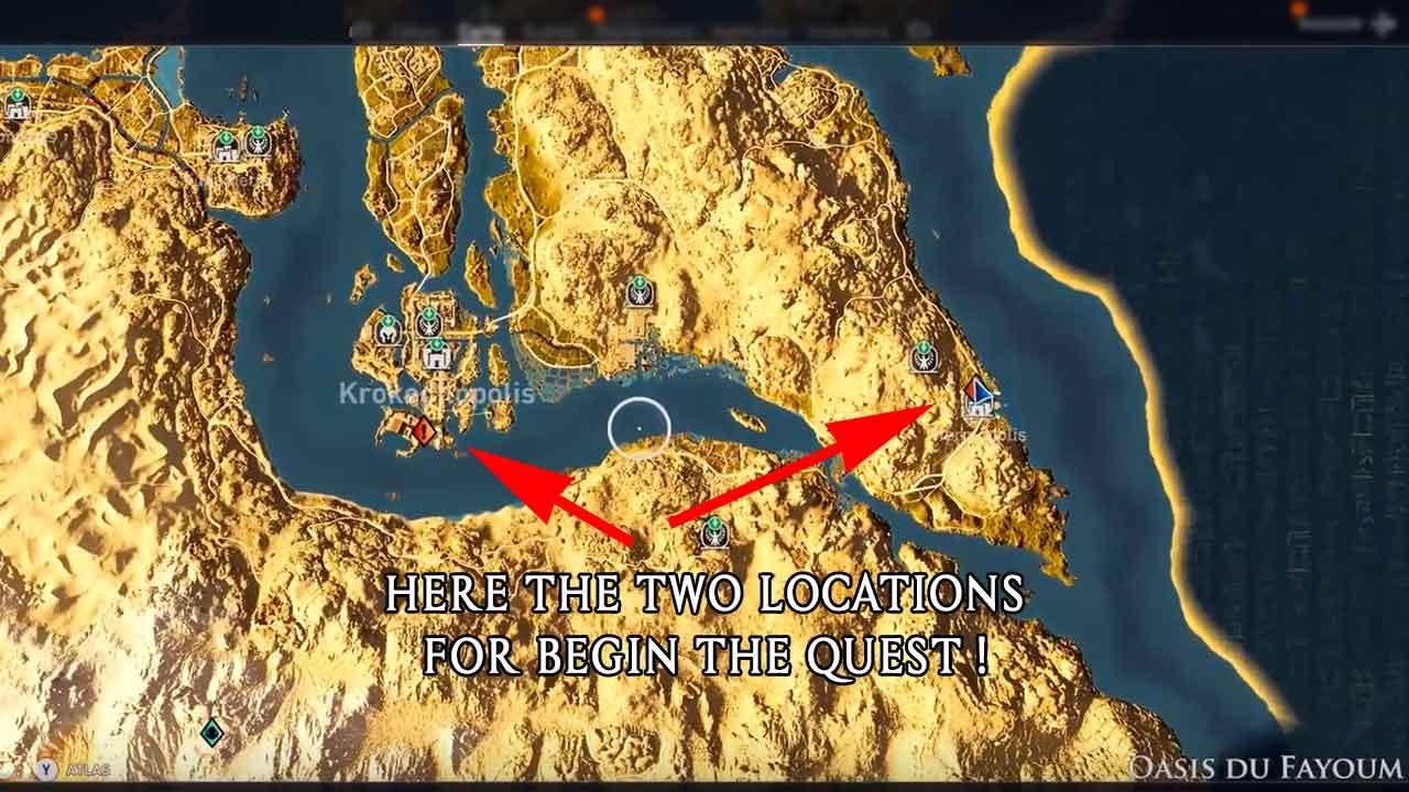Map Quest Lights Among The Dunes Assassins Creed Origins