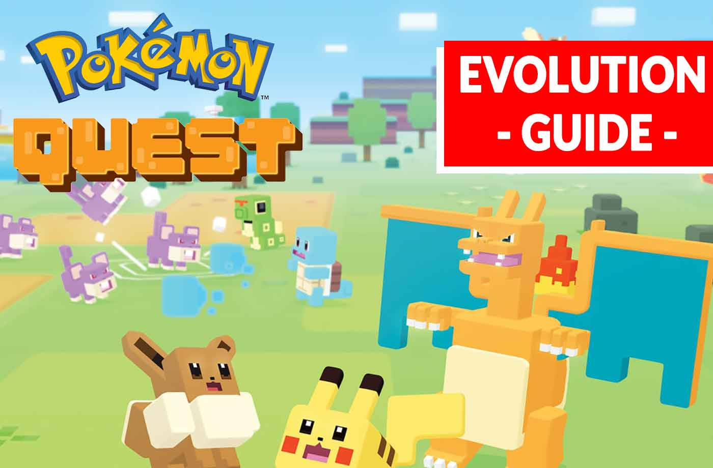 pokemon quest how to evolve your pokemon like pikachu the evolution