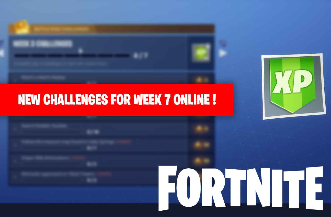 Image Result For Week Challenges Fortnite