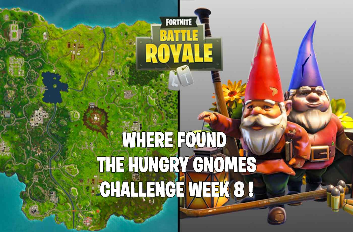 Challenge Fortnite Where Is The Hungry Gnomes Are Located