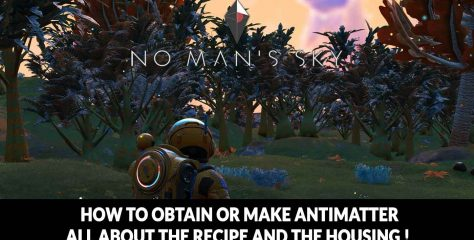 Solution No Man's Sky Next how to get or create antimatter