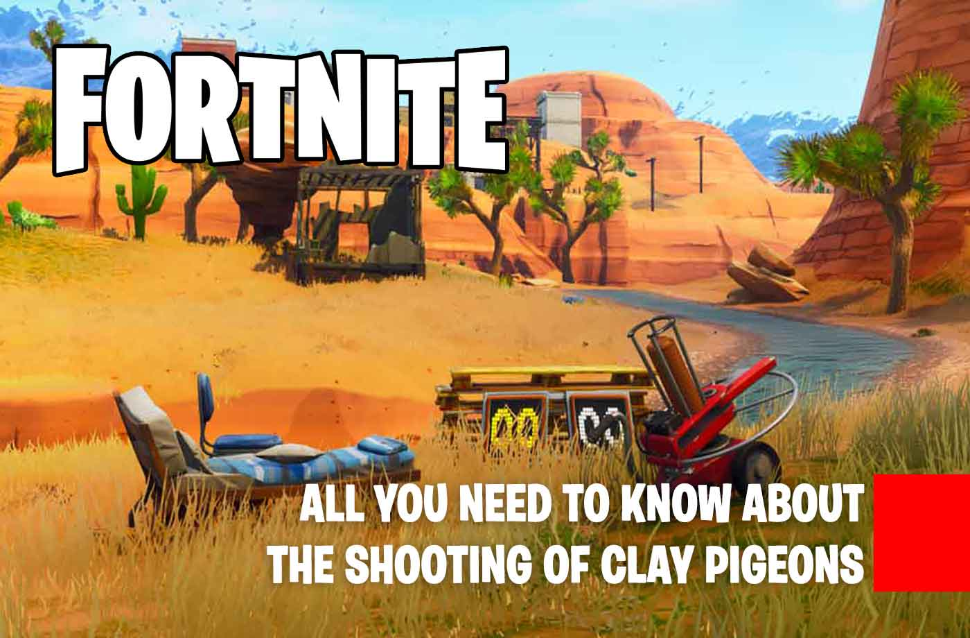 challenge fortnite how to shoot clay pigeons week 3 season 5 - clay duck fortnite