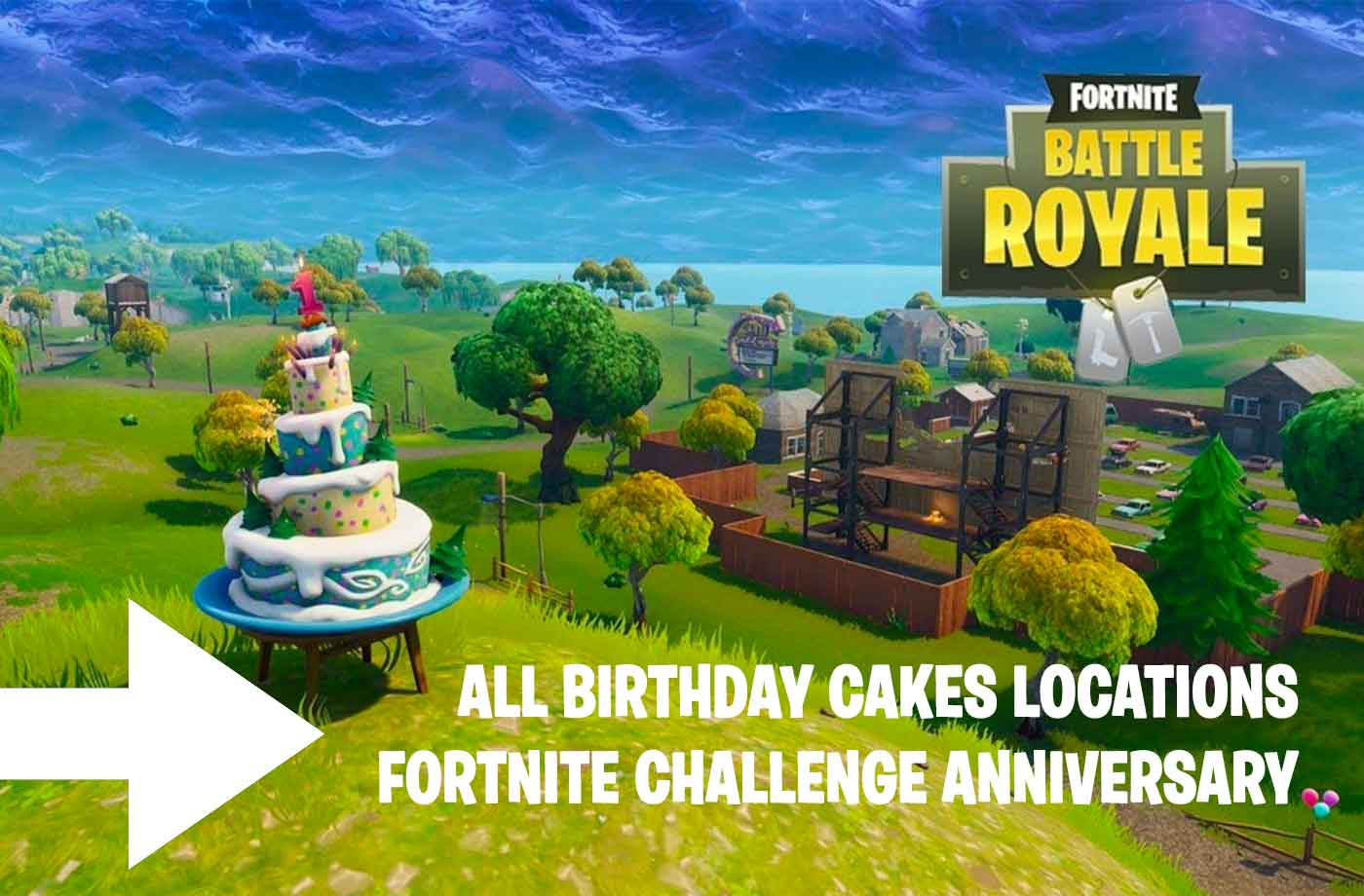 Fortnite Anniversary Challenge Where The 10 Birthday Cakes Are Located Kill The Game