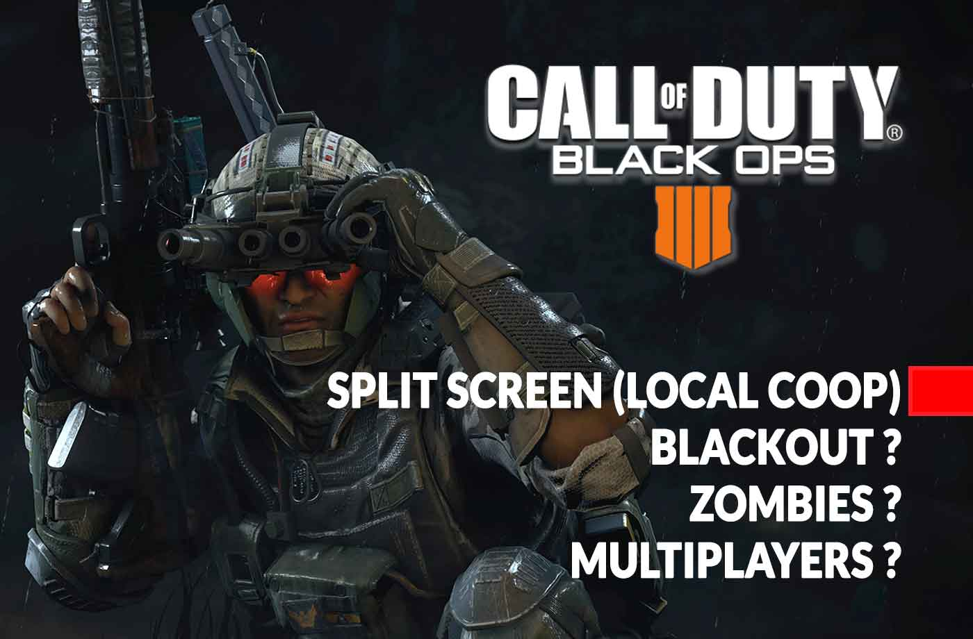 Call of Duty Black Ops 4 how to play split screen (local coop) on