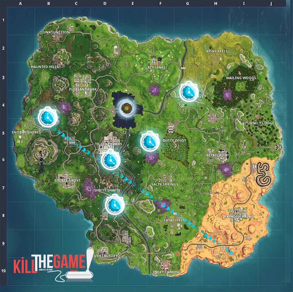 Fortnite Season 6 Where Are Located The Timed Trial Challenges List