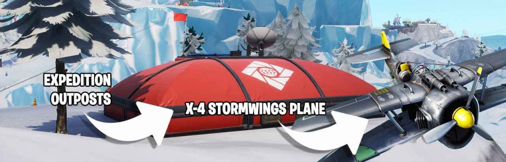 Fortnite-red-expedition-Outposts-and-X4-Stormwings-plane