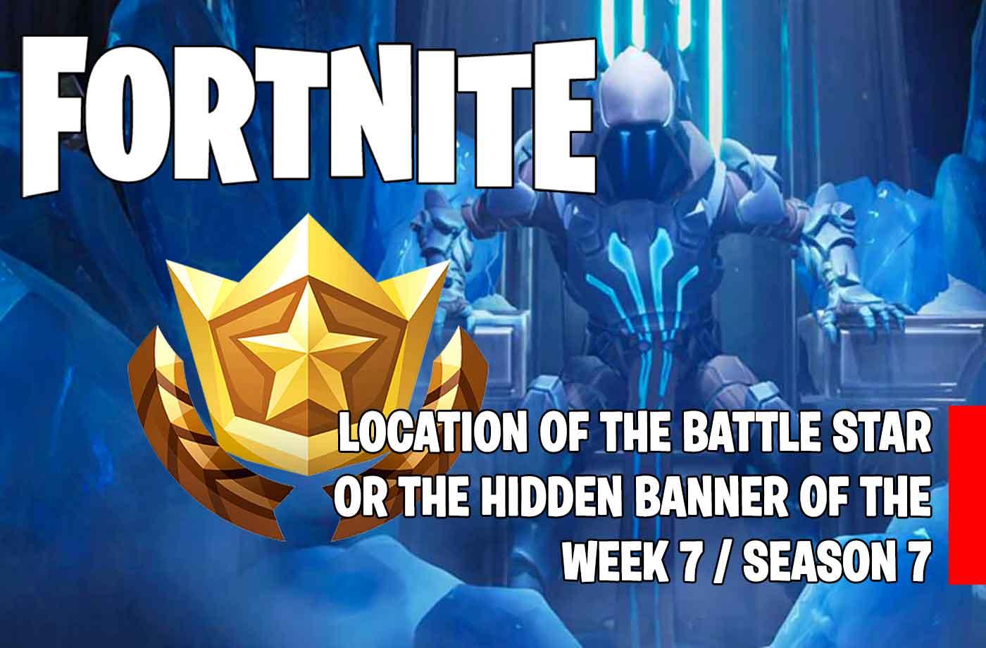 guide fortnite season 7 where the hidden battle star of week 7 is located snowfall challenge - fortnite week 8 loading screen 7