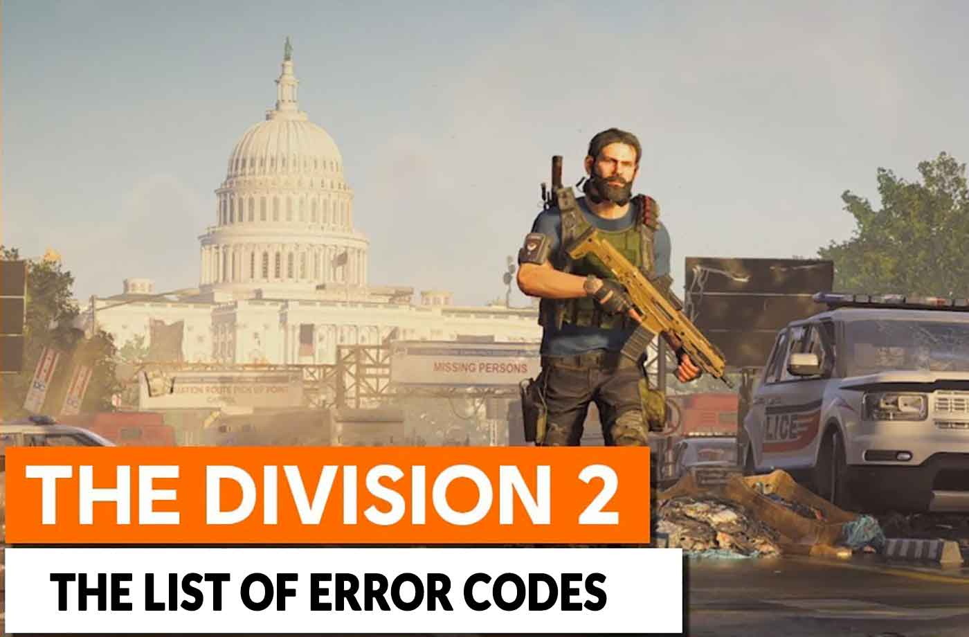 Guide The Division 2 the list of error codes and their