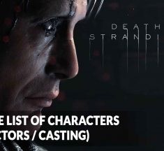 Death Stranding characters list (actors / casting)