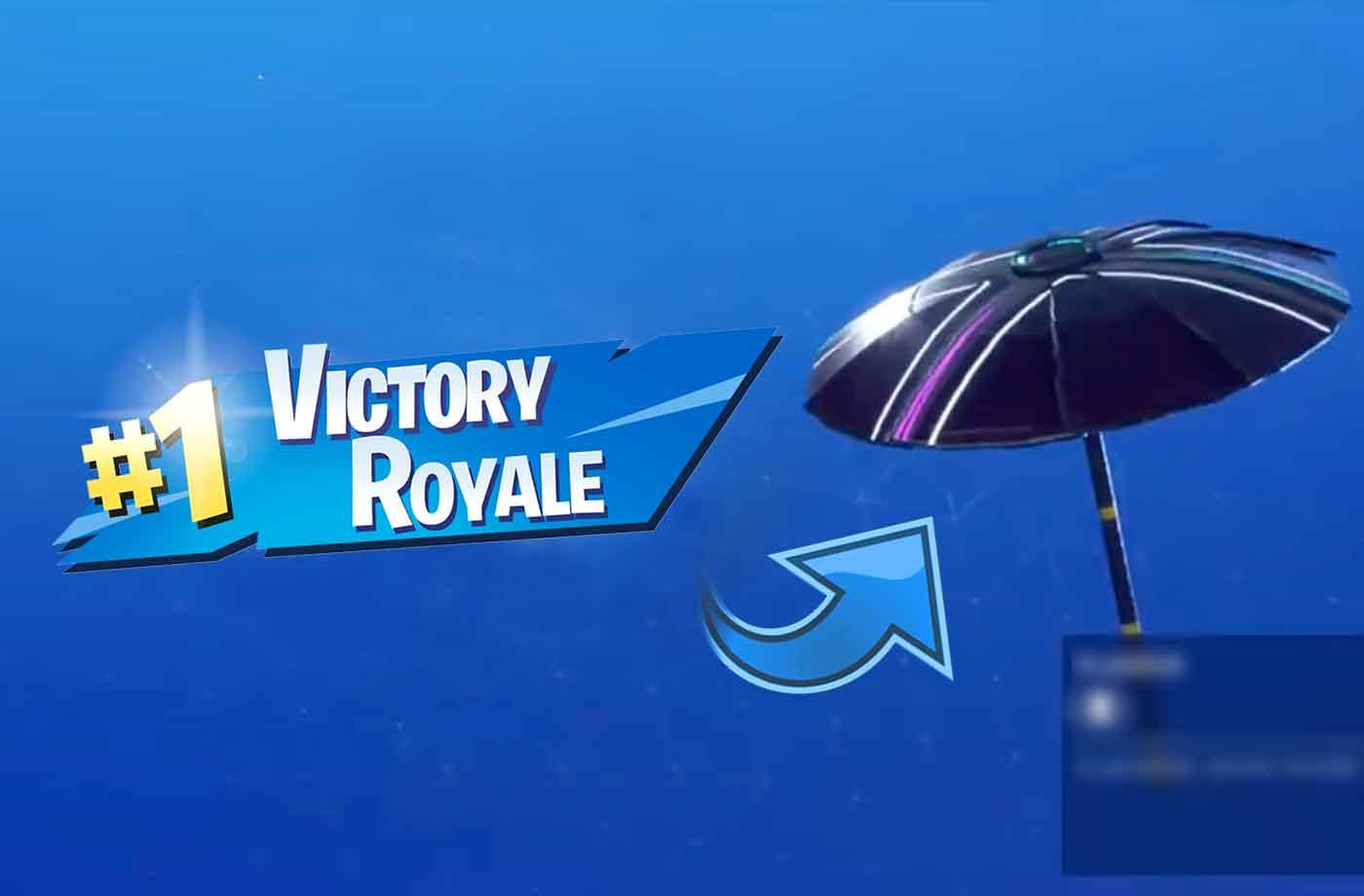 Fortnite Season 10 New Umbrella Glider X Victory Royale