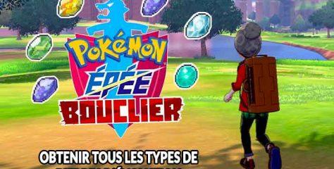 Guide Pokémon Épée et Bouclier ou trouver toutes les pierres d'évolution