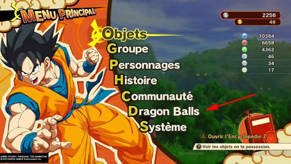 DBZ-kakarot-option-menu-dragon-balls