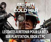 Call of Duty Black Ops Cold War les dates de sortie de la bêta et de l'accès anticipé