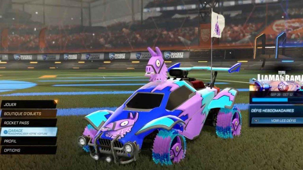 rocket-league-garage-voiture-llama-fortnite