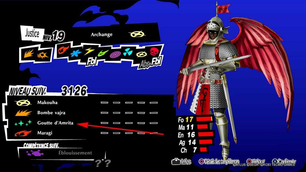 Persona-5-Strikers-comment-obtenir-Archange-avec-Goutte-d-Amrita