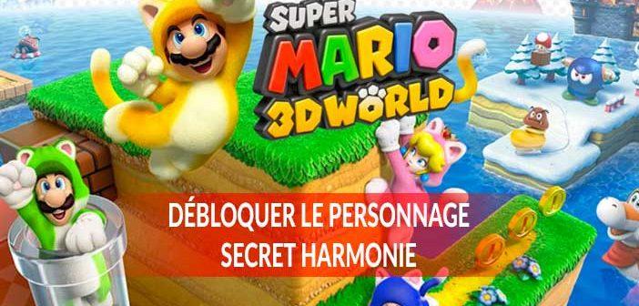 Guide Super Mario 3D World sur Nintendo Switch comment débloquer le personnage secret Harmonie