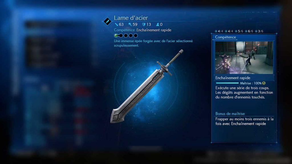lame-d-acier-final-fantasy-7-remake-arme-2-pour-Cloud