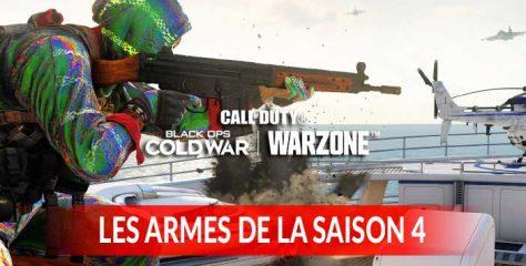 La liste de toutes les armes à débloquer dans la saison 4 de Call of Duty Black Ops Cold War et Warzone