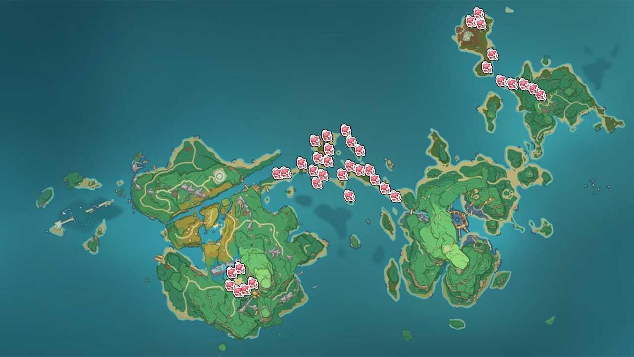 carte-region-Inazuma-genshin-impact-emplacements-Dendrobium-sanglant