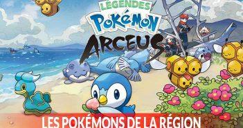 Quels sont les pokémon confirmés dans le jeu Légendes Pokémon Arceus sur Nintendo Switch