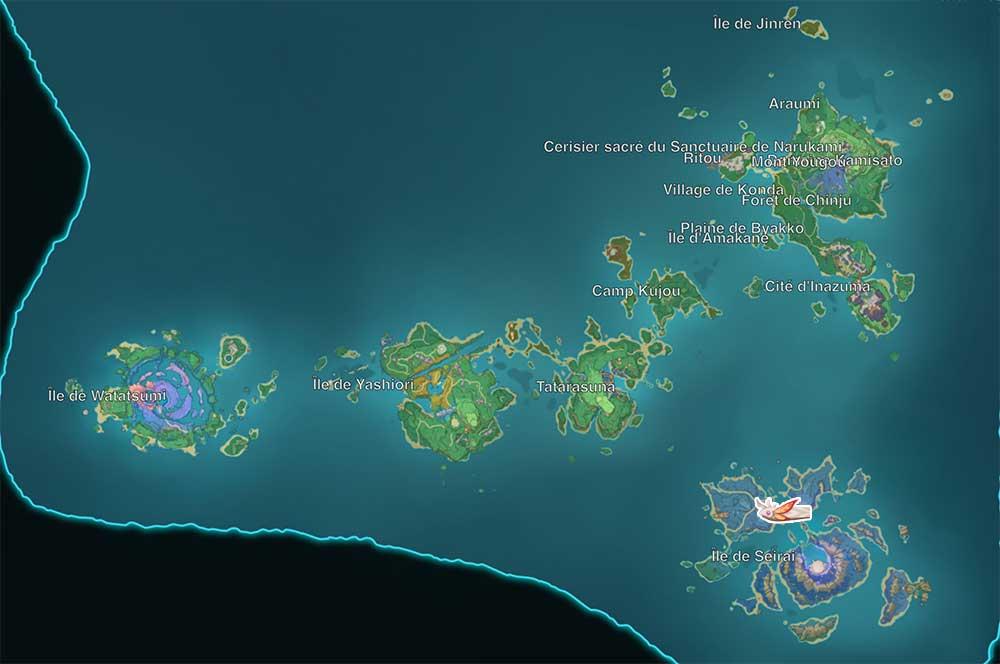 carte-de-peche-genshin-impact-emplacements-Poisson-Koi-dore-inazuma