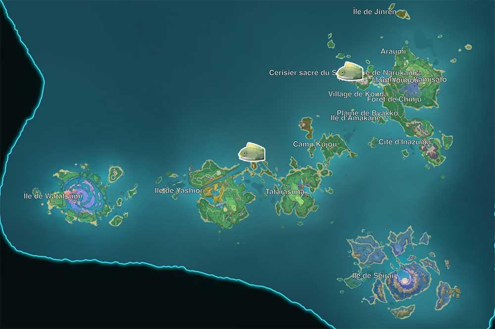 carte-de-peche-genshin-impact-emplacements-Poisson-globe-amer-inazuma