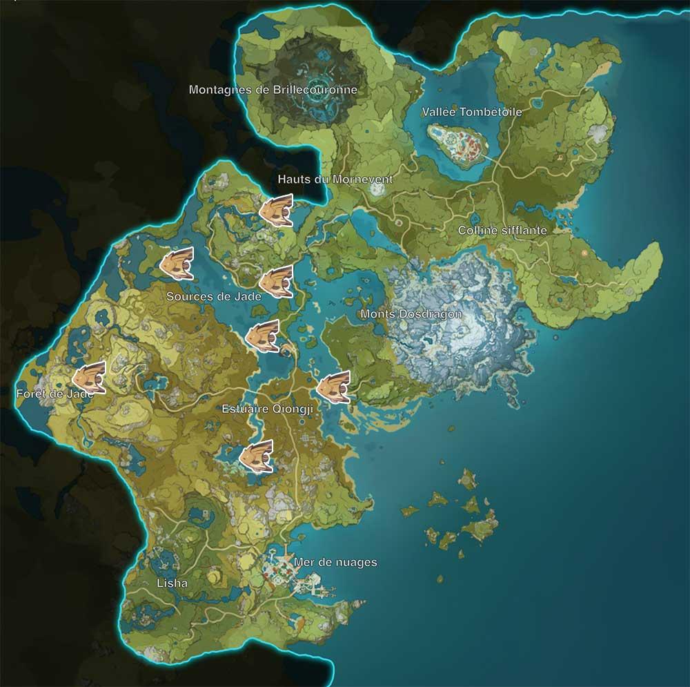 carte-de-peche-genshin-impact-emplacements-Poisson-papillon-marron