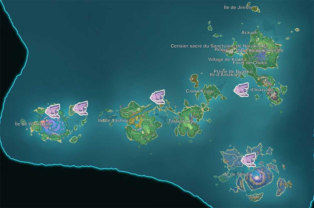 carte-de-peche-genshin-impact-emplacements-Poisson-papillon-violet-inazuma